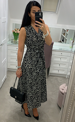 Inwear-Hanne-Polka-Dot-Maxi-Dress,-Black-&-White