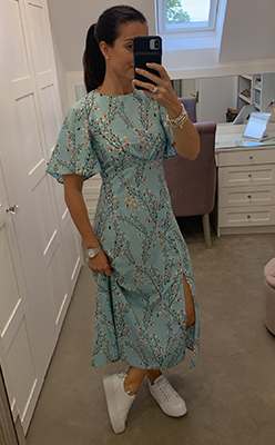 McElhinneys-Seventy1-Blossom-Print-Midi-Dress,-Mint-Green