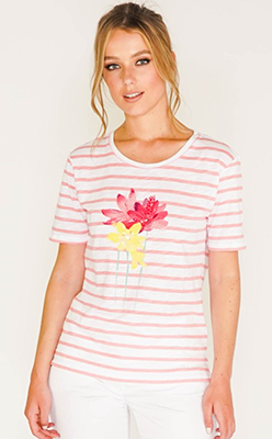 Pamela-Scott-BRAX-STRIPED-T-SHIRT-WITH-FLOWER-DETAIL-FRONT