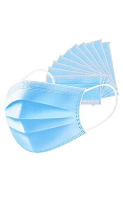 LYS 3-PLY DISPOSABLE FACE MASK WITH LOOPS - 10 MASKS PER PACK