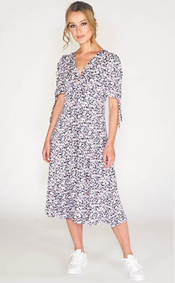 SOPHIE B MILLE FLEUR CROSSOVER SWING DRESS