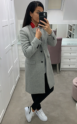Tommy-Hilfiger-Womens-Wool-Rich-Coat,-Grey