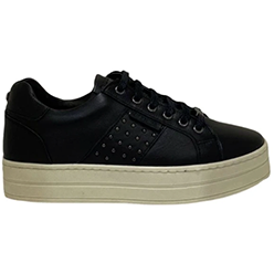 Murphys-Shoes-Carmela---Black-Leather-Lined-Wedge-Trainers-with-Stud-Detail