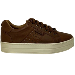 Murphys-Shoes---Carmela---Tan-Leather-Lined-Wedge-Trainers-with-Stud-Detail