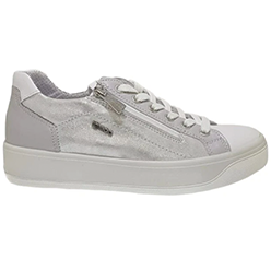 Murphys-Shoes-Igi-&-Co---Italian-Leather-Lined-Dull-Silver-Laced-Trainers-with-Zip