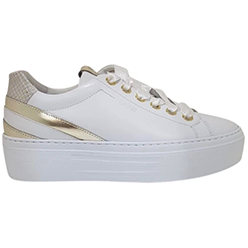 Murphys-Shoes-NeroGiardini---White-and-Gold-Superlight-Wedge-Trainers