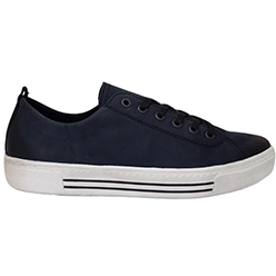Murphys-Shoes-Remonte---Navy-Nubuck-Leather-Laced-Trainers