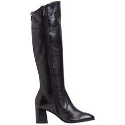 Murphys-Shoes---Tamaris---Black-Leather-Knee-High-Boot-with-Inside-Zip