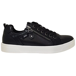 Murphys-Shoes-XTI---Black-PU-Leather-Trainers