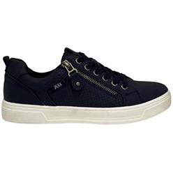 Murphys-Shoes-XTI---Navy-PU-Leather-Super-Light-Trainers