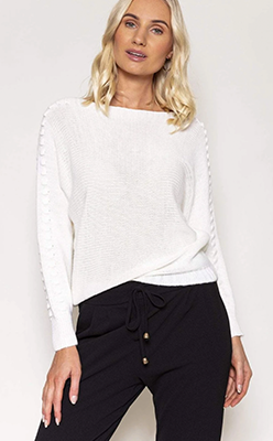 PALA-D'ORO-Long-Sleeve-Knit-Jumper-in-White