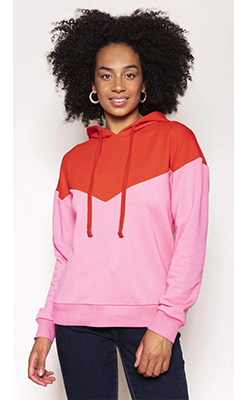 Carraig-Donn---KELLY-&-GRACE-WEEKEND-Chevron-Hoody-in-Red-and-Pink