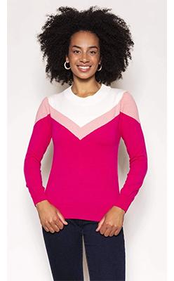 Carraig-Donn---KELLY-&-GRACE-WEEKEND-Chevron-Knit-in-Pink