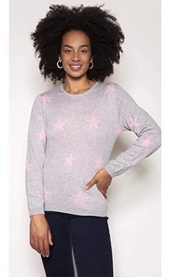 Carraig-Donn---KELLY-&-GRACE-WEEKEND-Star-Knit-in-Grey