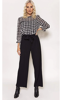 Carraig-Donn---PALA-D'ORO-Pleated-Belted-Trousers-in-Black