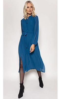 Carraig-Donn---ROWEN-AVENUE-Long-Sleeve-Chiffon-Dress-in-Teal