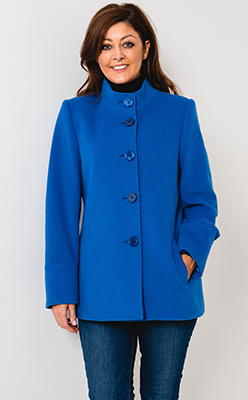 McElhinneys-Coats-Christina-Felix-Wool-Rich-Short-Coat,-Blue