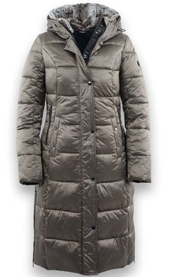 McElhinneys-Coats-District-Bling-Hooded-Quilted-Coat,-Dark-Taupe