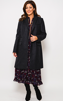 McElhinneys-Coats-French-Connection-Platform-Smart-Wool-Coat,-Dark-Charcoal