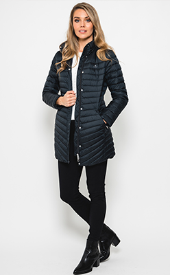McElhinneys-Coats---Gant-Womens-Slim-Light-Down-Quilted-Coat,-Black