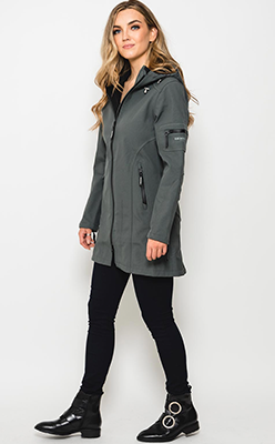 McElhinneys-Coats---Ilse-Jacobsen-Rain-07-Hooded-Raincoat,-Urban-Green