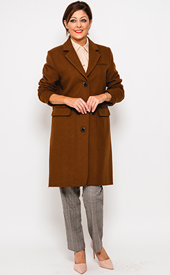 McElhinneys-Coats-Selected-Femme-Elina-Sustainable-Wool-Rich-Coat,-Brown