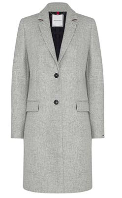 McElhinneys-Coats-Tommy-Hilfiger-Womens-Wool-Rich-Coat,-Grey