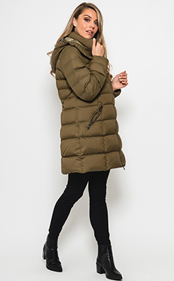 McElhinneys---Gant-Womens-Down-Filled-Quilted-Coat,-Cactus-Green
