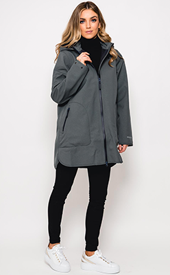 McElhinneys---Ilse-Jacobsen-Raini-35-Hooded-Rain-Jacket,-Urban-Green