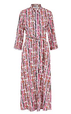 Born-3-4-midi-shirt-dress-in-pink-geo