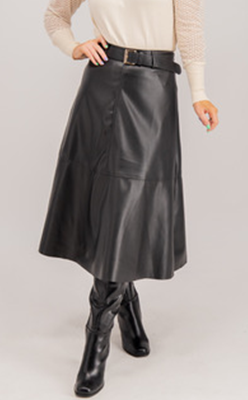 Born---Lee-faux-leather-midi-skirt-in-black